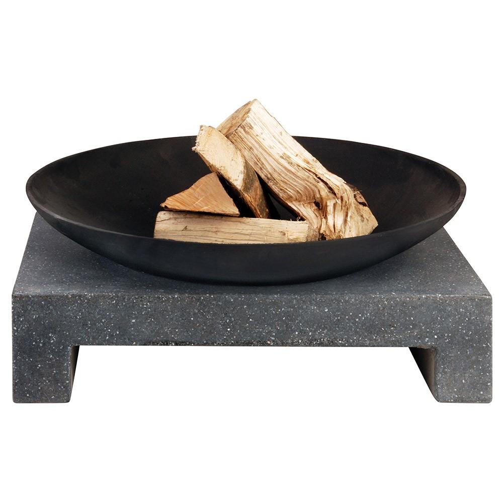 Bålfad med firkantet granitfod-31