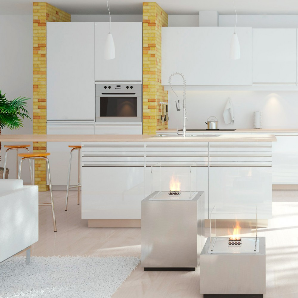 Biopejs Decoflame Monaco Square Lounge White-31