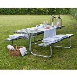 Classic bord-bænkesæt, gråbrun-20