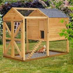 Firkantet hønsehus til haven-20