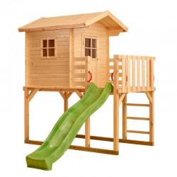 Legehus med rutsjebane kreativ og fysisk leg i haven-20