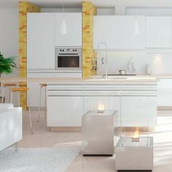 Biopejs Decoflame Monaco Square Lounge White-20