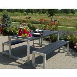 Planke bord-bænkesæt, sort-20
