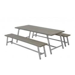 Royal bord-bænkesæt, gråbrun-20