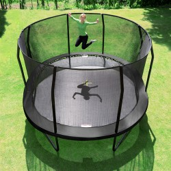 Stor havetrampolin Jumpking Oval Black 5,2 x 4,25 m-20