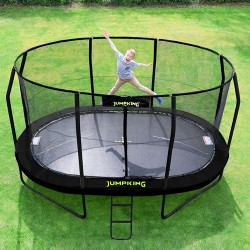 Trampolin i haven Stor Jumpking Oval Black 4,6 x 3,1 m-20