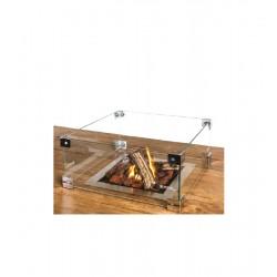 Glasskærm til Happy Cocooning loungebord med gaspejs.